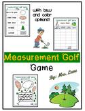 Measurement Golf Game
