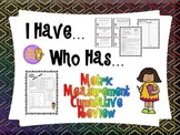 Measurement I Have Who Has + Quick Quiz (Metric Measures C
