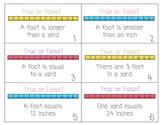 Measurement True or False Task Cards/Center