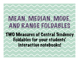 Measures of Central Tendency Foldable