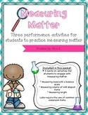 Measuring Matter Hands On Activities