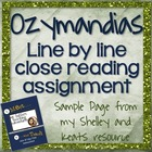 Ozymandias- Meet and Teach with Ms. Fuller's Teaching Adventures