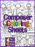 Meet the Composers-set of 12 Coloring Sheets /Coloring Boo