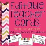 Meet the Teacher Business Cards for Open House