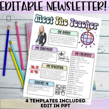 Meet the Teacher Newsletter- EDITABLE