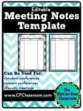 Meeting Notes Organizer for a Teacher Organization Binder