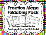 Mega Fractions Foldables 20 Pack for Interactive Math Notebooks