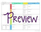 Megan Editable Lesson Plan Template