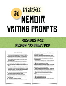 31 FRESH Memoir Writing Prompts ( Not the same old cliche ones)