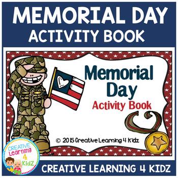 Memorial Day Activity Cut & Paste Book Autism ABA
