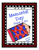 Memorial Day Print and Go Activities