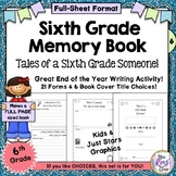 Memory Book {6th Grade} Tales of a Sixth Grade Someone ~ F