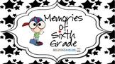 Memory Book for Sixth Grade