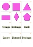 Memory Game 2 Dimensional Shapes Math Centers. K-1st