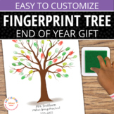 End of Year Gift: Customizable Fingerprint Memory Tree Tem