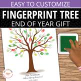 End of Year Gift: Customizable Fingerprint Memory Tree Tem