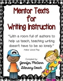 Mentor Text List for Writers' Workshop