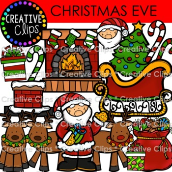 Merry Christmas Eve {Creative Clips Digital Clipart}
