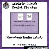 Mesopotamia Timeline Research & Report Activity Ancient Ri