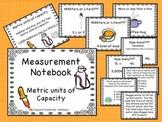 Metric Units of Capacity Notebook