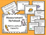 Metric Units of Capacity Notebook