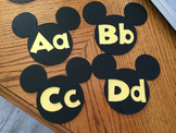 Mickey Ears Word Wall Headings Disney Bulletin Board