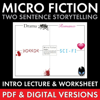 Micro Fiction, Fun Creative Writing for Teens, Narrative Writing, Sub Plan, CCSS