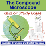 Microscope Quiz / Homework / Review Worksheet