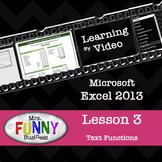Microsoft Excel 2013 Video Tutorial - Lesson 3