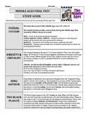 Middle Ages Final Test Study Guide Middle School