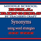 Middle School ELA Bell Ringers - Synonyms