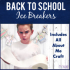 """Middle School Ice Breakers with an """"All about me"""" activity"""