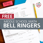 Middle School Math Bell Ringers Single Set (Review Practice)