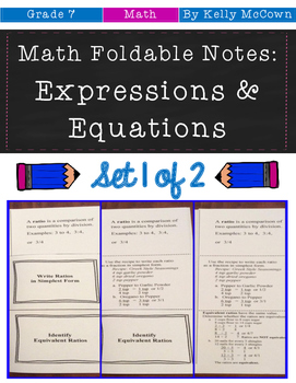 Middle School Math Foldables: Expressions & Equations {Gra