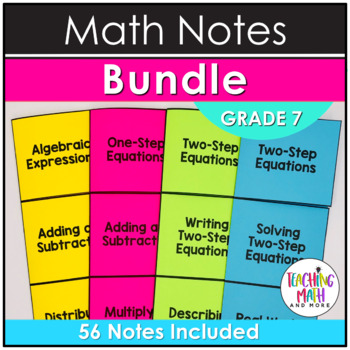 Middle School Math Foldables: Grade 7 BUNDLE