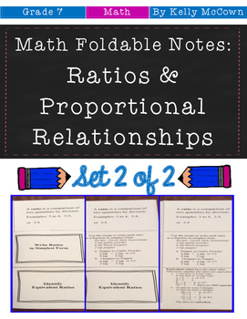Middle School Math Foldables: Rates & Proportionality {Gra