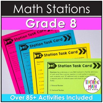 Middle School Math Stations: 8th Grade Bundle
