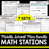 Middle School Math Stations Mini-Bundle
