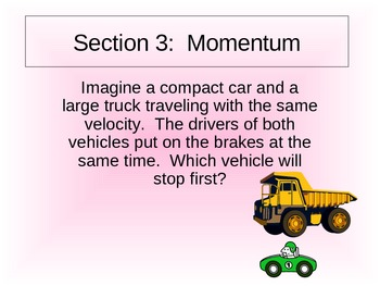 Middle School Momentum Power Point Presentation