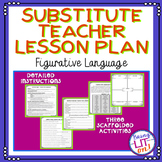 Middle School Substitute Teacher Lesson Plan - Figurative