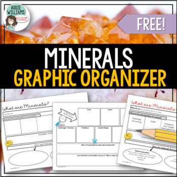 Minerals - FREE Graphic Organizer for Earth Science / Geography