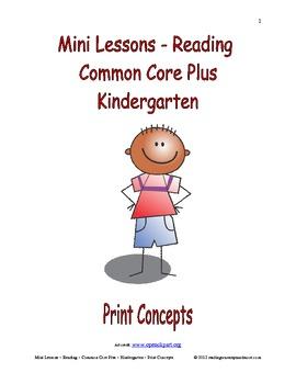 Mini Lessons - Reading - Common Core Plus - Kindergarten -