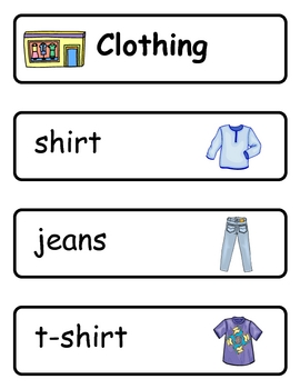 Mini Word Book-Clothing Words