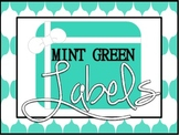 Mint Green Labels