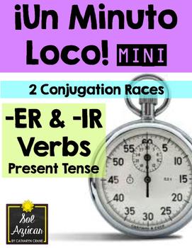 Minuto Loco Mini - ER and IR Verbs in Present Tense - Conjugation Races