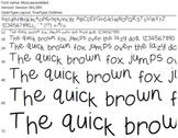 Miss Law's Jumbled  Font