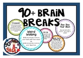 Miss Rachael's Brain Break Cards - 60+ ideas!