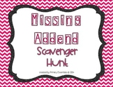 Missing Addend Scavenger Hunt