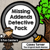 Missing Addends Detective Pack