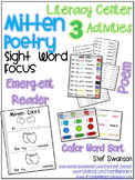 Mitten Poetry Work Station {Sight Word Focus / Color Words